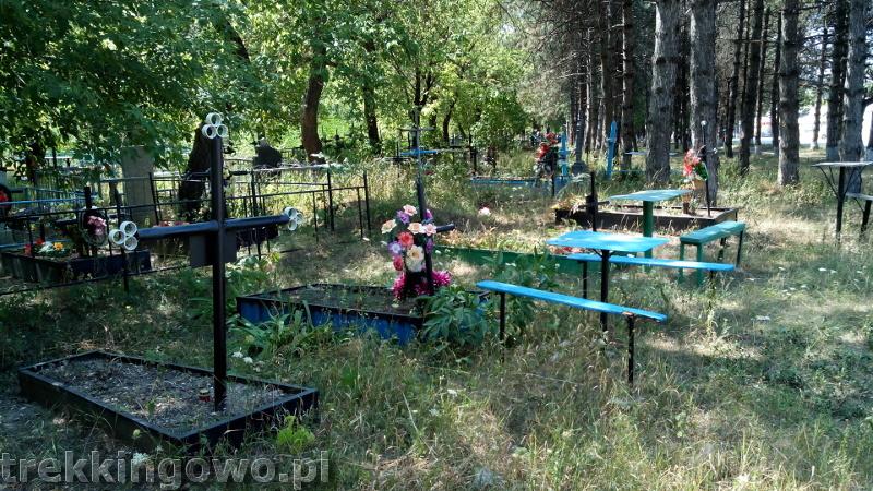 Polska wieś Strycza - Wyprawa rowerowa Mołdawia 2015, dz. 4 cmentarz Strycza trekkingowo