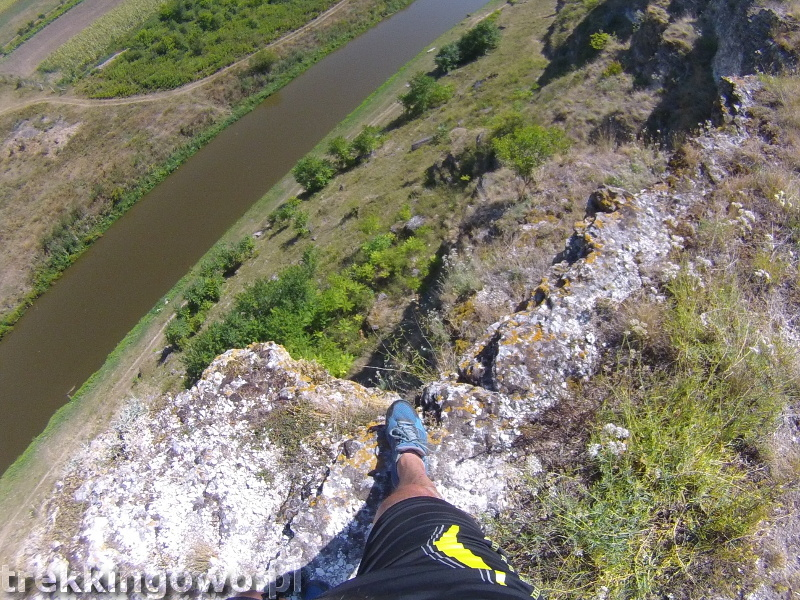Mołdawia - Dzień 6 dolina Orheiul Vechi stromo trekkingowo