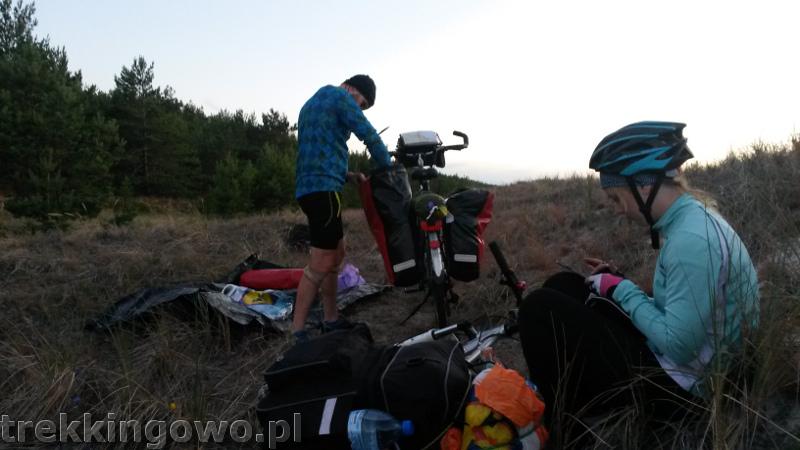 wydmy obóz trekkingowo