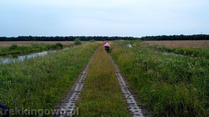 szlak latarni morskich droga błoto kluki j. łebsko trekkingowo