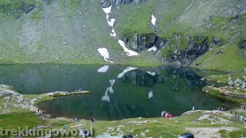 Rumunia, czy nadal dzika transfogaraska szczyt turkusowe jeziorko trekkingowo
