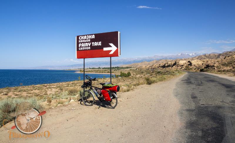 kanion skazka drogowskaz Kirgistan Isyk-Kul trekkingowo