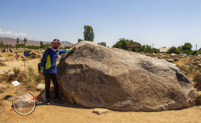 muzeum petroglifiów głaz Czołpon-Ata kirgistan Isyk-kul trekkingowo.pl